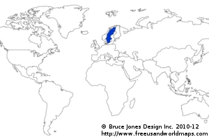 Facts About SACC - Sweden map facts